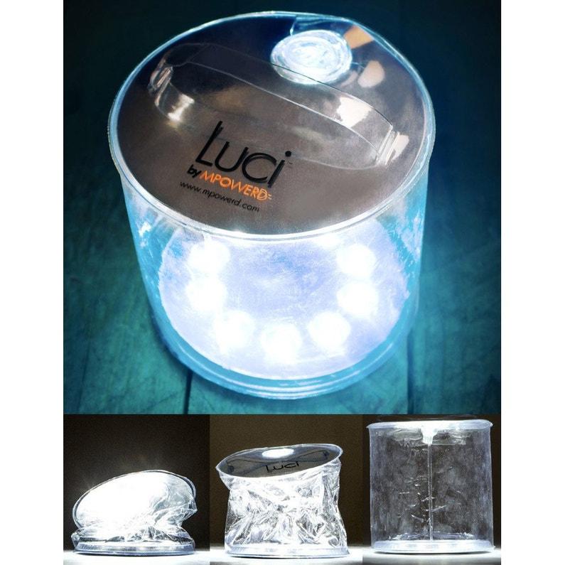 Lampe solaire exterieur gonflable luci