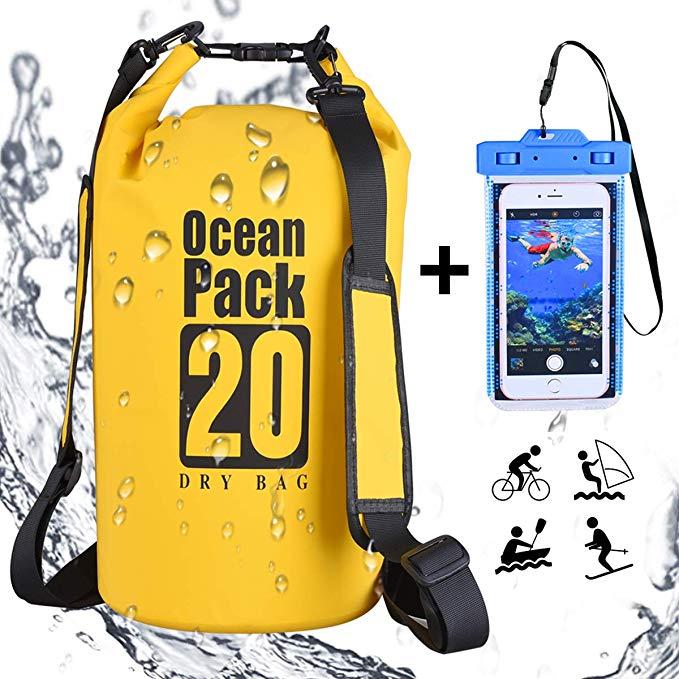 Sac à dos Étanche pour activités nautiques +Pochette Téléphone portable Imperméable