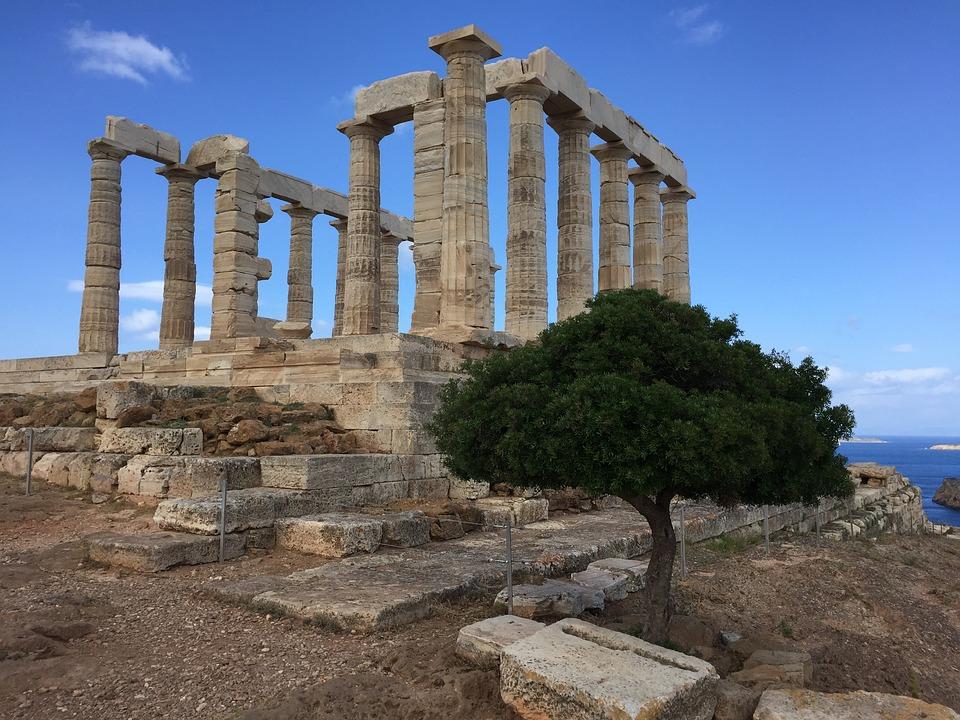 temple poseidon athenes