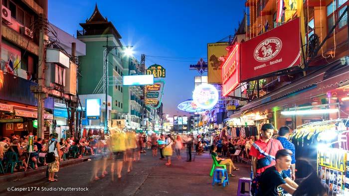 KhaosanSan Road à Bangkok