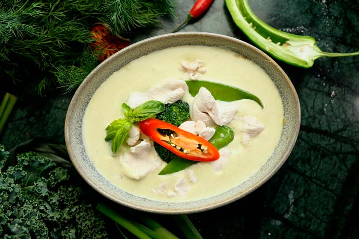 Quoi manger en Thaïlande ? Curry Vert Thaï